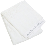 "Kids Line Cushy Soft Blanket ""Thank Heaven For Little Babies"" White"