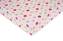 Kids Line Girl Dots Fitted Sheet