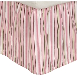 Kids Line Dust Ruffle Stripe Pink/Green