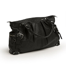 Kids Line Whipstitch Satchel Diaper Bag Black