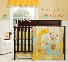 Graco Jungle Friends 4 Piece Bedding Set