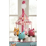 Kids Line Zutano Owls Musical Mobile