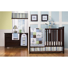 Kids Line Mosaic Transport 9-Piece Crib Bedding Set