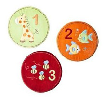 Tiddliwinks ABC 123 3 Piece Velour Wall Art