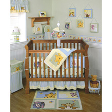 Kids Line Pooh Soft 'N Fuzzy 4 Piece Crib Bedding Set