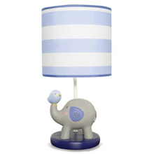 Kids Line Jungle Doodle Lamp Base & Shade