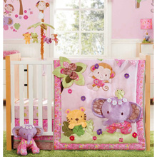 Kids Line Blossom Tails 4 Piece Crib Set