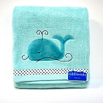 Kids Line Tiddliwinks Whale Bath Towel