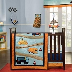 Kidsline Zutano Construction 4 pc. Crib Bedding