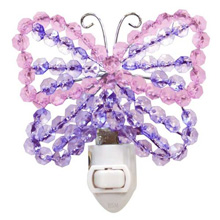 Lambs & Ivy Beaded Butterfly Nightlight