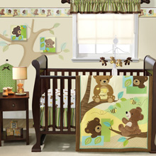 Lambs & Ivy Honey Bear 3-Piece Crib Bedding