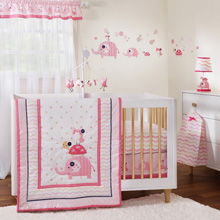 Gingersnap Ellie 3 Piece Crib Bedding Set