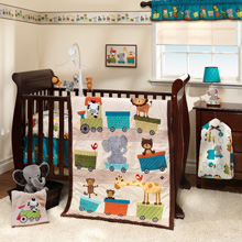 Bedtime Originals Choo Choo 3 Piece Crib Bedding Set