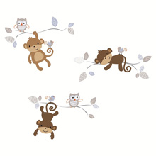 Bedtime Originals Mod Monkey Wall Appliques