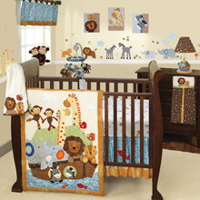 Lambs & Ivy S.S. Noah 5 Piece Bedding Crib Set
