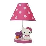 Lambs & Ivy Hello Kitty Garden Lamp & Shade