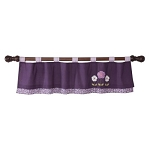 Lambs & Ivy Plumberry Window Valance