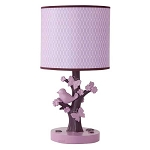 Lambs & Ivy Plumberry Lamp & Shade