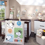 Lambs & Ivy BFF Snoopy 5pc Bedding Set