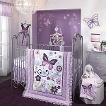 Lambs & Ivy Butterfly Lane Bedding Set 5-pcs