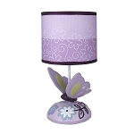 Lambs & Ivy Butterfly Lane Lamp w/Shade and Bulb