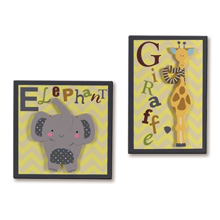 Lambs & Ivy Cornelius 2 Piece Wall Decor Set