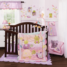 Lambs & Ivy Puddles 4-Pc Crib Bedding Set