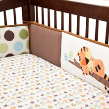 "Lambs & Ivy Tree Top Buddies ""Perfect Fit®"" 4 Piece Crib Bumper"
