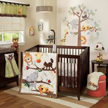 Lambs & Ivy Tree Top Buddies 4 Piece Crib Bedding