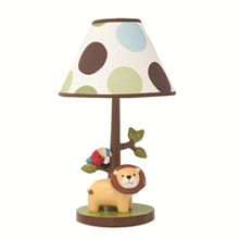 Lambs & Ivy Tree Top Buddies Lamp Base and Shade