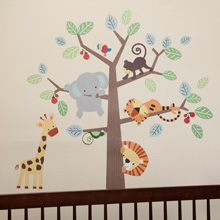Lambs & Ivy Tree Top Buddies Wall Appliques