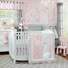 Lambs & Ivy Swan Lake 4 Piece Crib Bedding