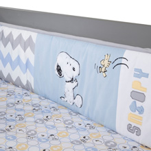 "Lambs & Ivy My Little Snoopy ""Perfect Fit®"" 4 Piece Crib Bumper"