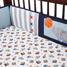 Lambs & Ivy Future All Stars Perfect Fit® 4 Piece Crib Bumper