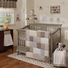 Lambs & Ivy Oatmeal Cookie 4 Piece Crib Bedding Set