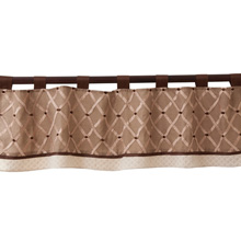 Lambs & Ivy Oatmeal Cookie Window Valance