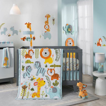Happi Jungle by Dena™ 4 Piece Crib Bedding