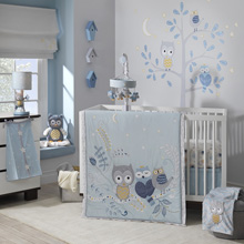 Happi - Night Owl by Dena™ 4-Piece Crib Bedding Set