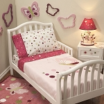Lambs & Ivy Raspberry Swirl Toddler Bedding Set