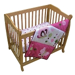 Lambs & Ivy Raspberry Swirl Mini Crib Set