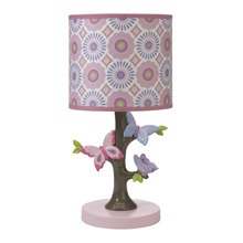 Lambs & Ivy Butterfly Garden Happi by Dena Lamp with Shade