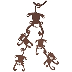 Lambs & Ivy Brown Monkeys Ceiling Sculpture