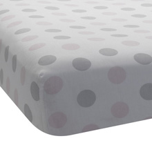 Lambs & Ivy Bunny Mix & Match Collection Fitted Crib Sheet