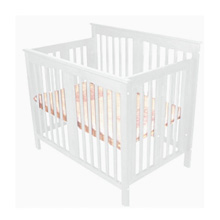 Angel Line Foldable Dela Mini Crib White