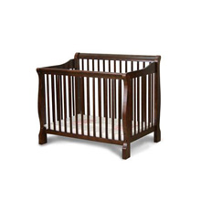 Angel Line Dela Mini Crib in Cherry