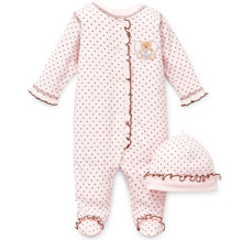 Little Me Heart Footie Sleepwear