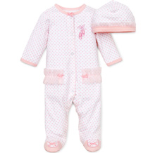 Little Me Prima Ballerina Footie Sleepwear with Hat Preemie-9m