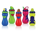 Nuby Gator Grip™ Flip Top Sipper Sports Bottle, 15oz