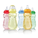 Nuby Non-Drip™ Bottle with Silicone Nipple, 7oz