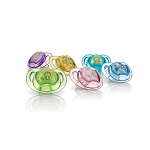 Nuby Prism Orthodontic Pacifiers - 0-6 Months - 2 Pack